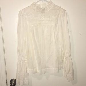 white free people blouse